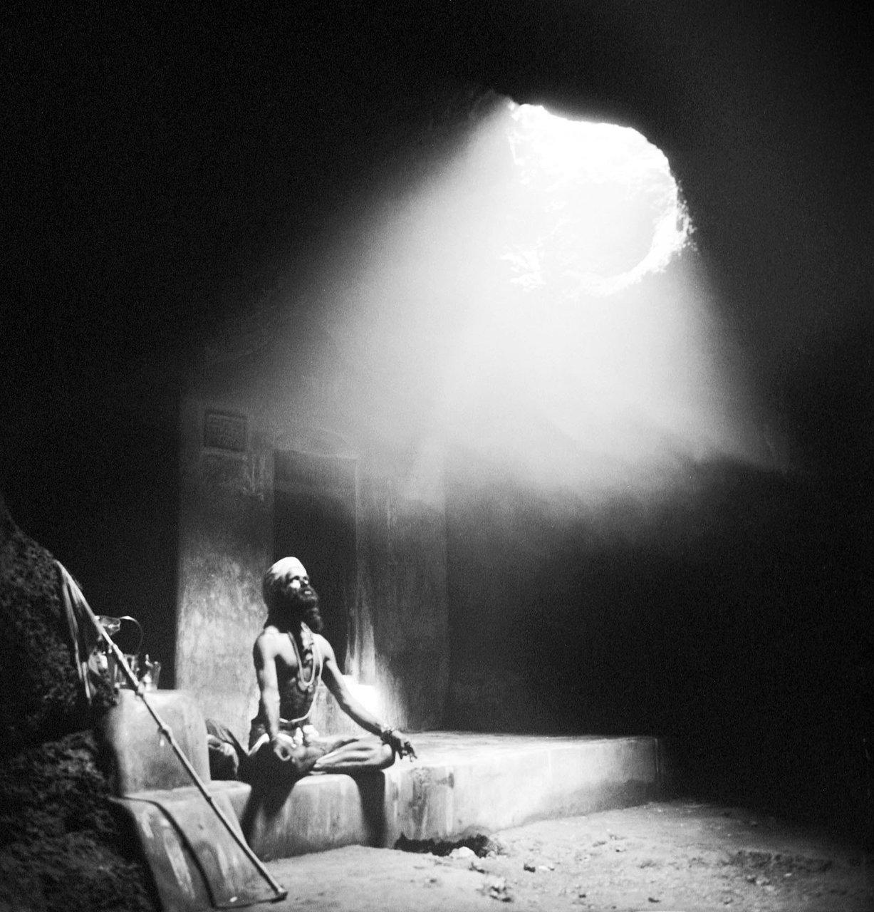 Sadhu in a cave, Gokarna