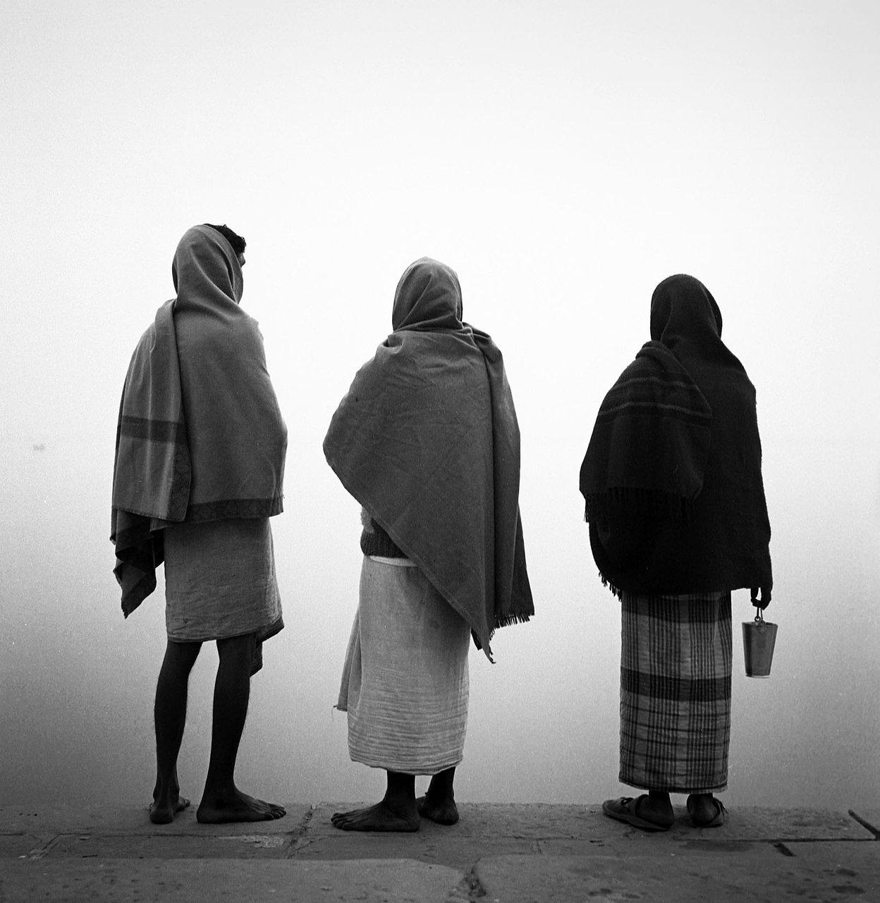 3 pilgrims, Varanassi