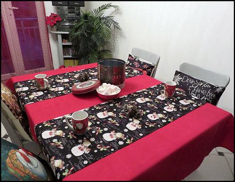 "Chemin de table ""Bonhomme de Neige"""