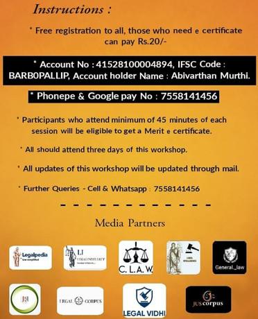 Three Days Online enlightenment Workshop on Writs, RTI & PIL - Legal Grasp