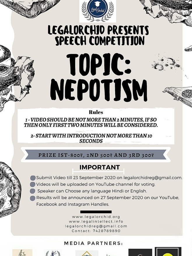 """SPEECH COMPETITION ON """"NEPOTISM"""""""