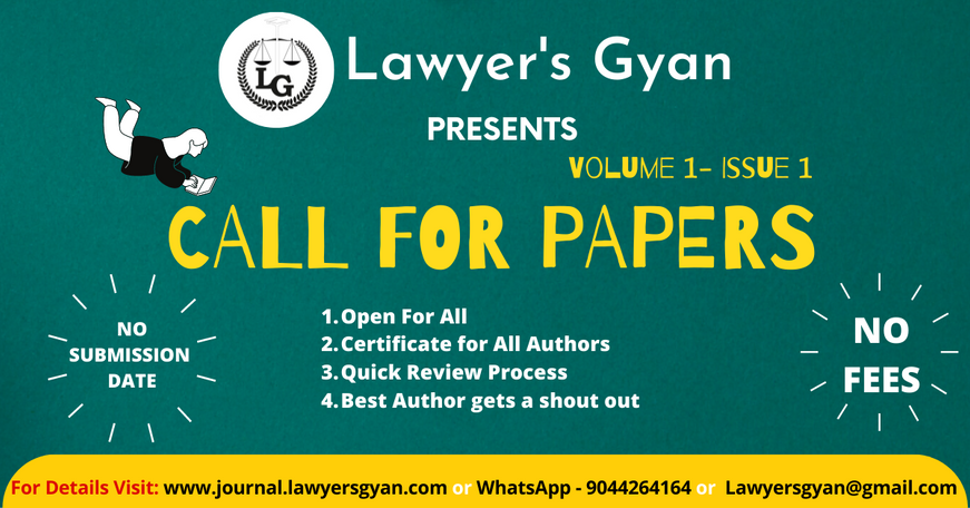Call for Papers- Lawyers Gyan is calling for papers