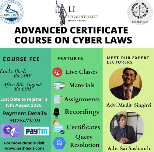 ADVANCED CERTIFICATE COURCE ON CYBER LAWS