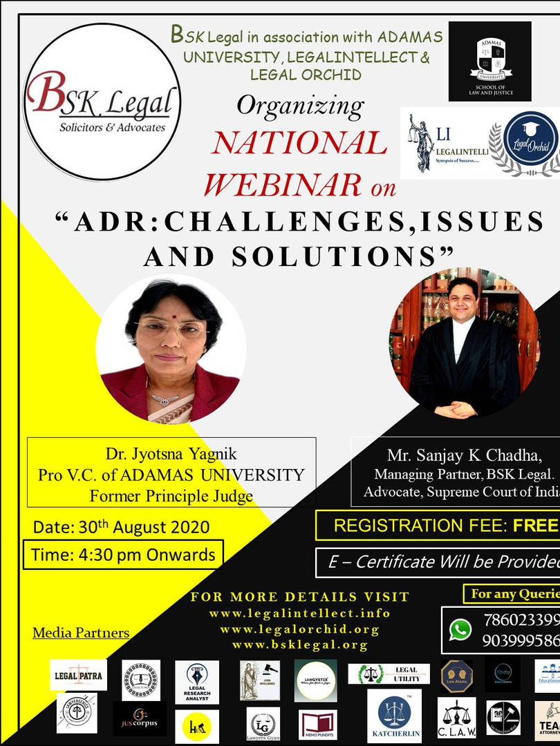 NATIONAL WEBINAR on ADR: CHALLENGES, ISSUES, AND SOLUTIONS