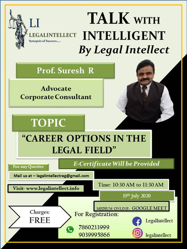CAREER OPTION IN THE LEGAL FIELD