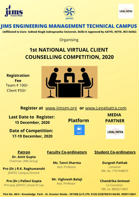 NATIONAL CLIENT COUNSELLING COMPETITION 2020