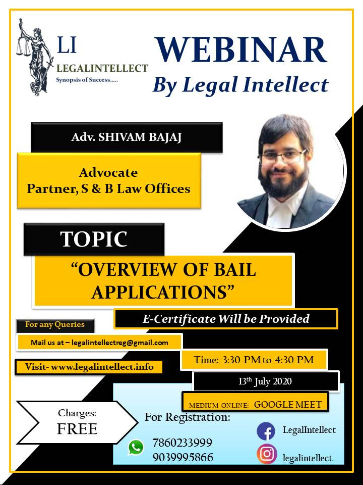 OVERVIEW OF BAIL APPLICATION