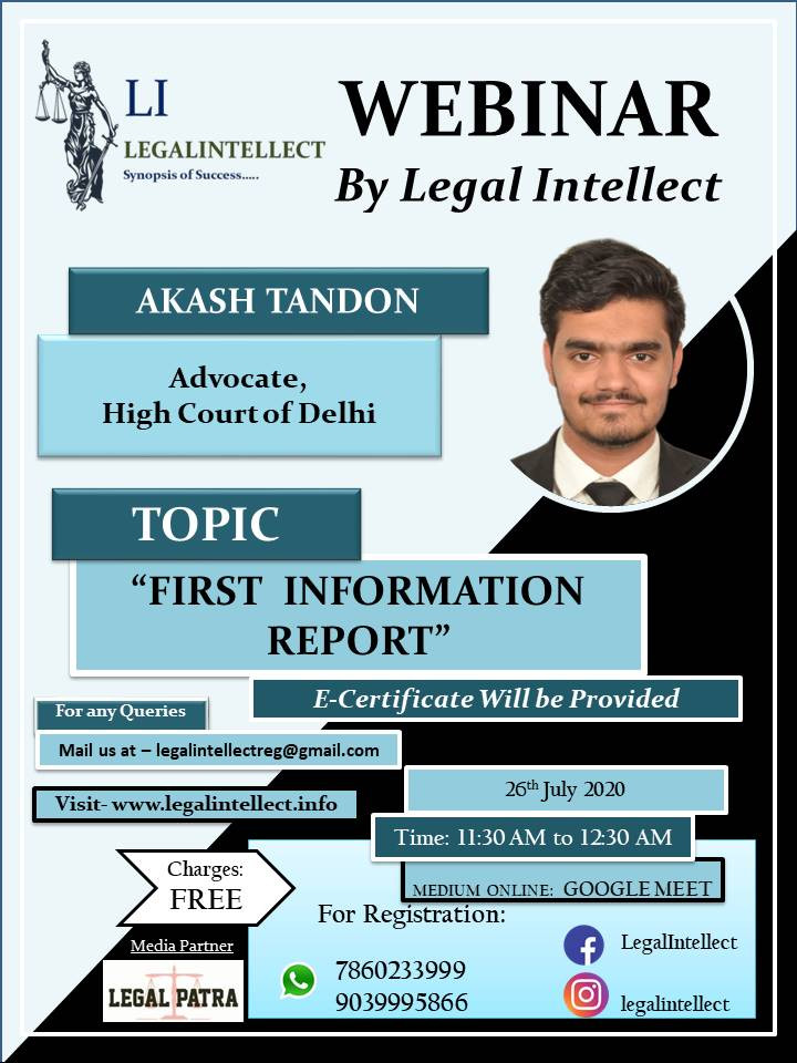 FIRST INFORMATION REPORT