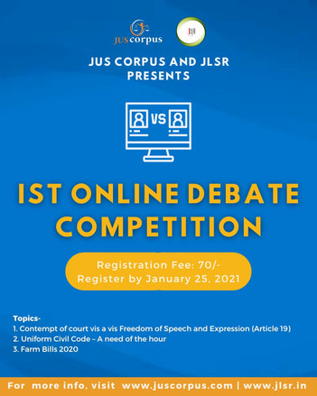 Debate Competition by JUSCORPUS