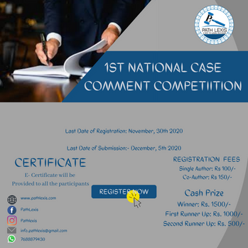 1st National Case Comment Competition – 2020