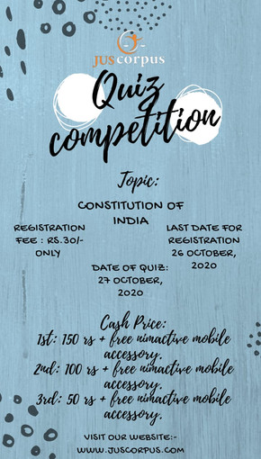 3RD JUS CORPUS NATIONAL QUIZ COMPETITION