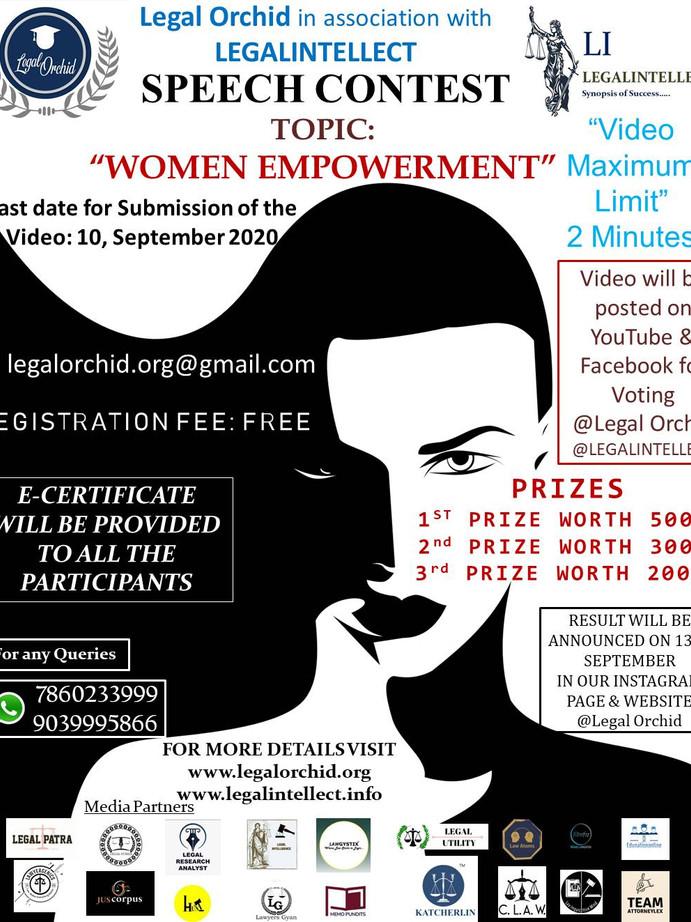 SPEECH COMPETITION ON WOMEN EMPOWERMENT