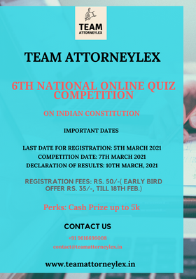 6th National Online Quiz Competition on Indian Constitution