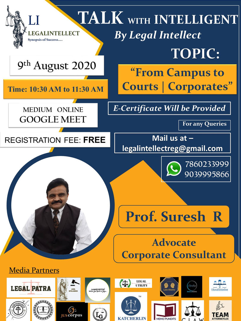 TALK with INTELLIGENT by LEGAL INTELLECT