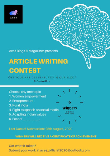 ARTICLE WRITING CONTEST BY ACES