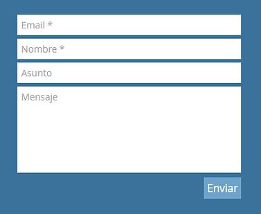 Formulario de contacto pagina de contact
