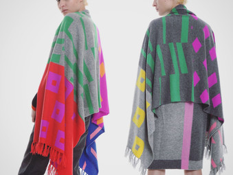 2018AW Seiji INOUE - Cashmere Knit Stole Collection