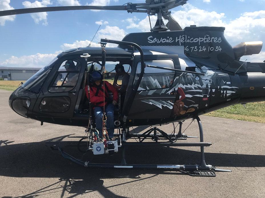 Relevé topographique en hélicoptère