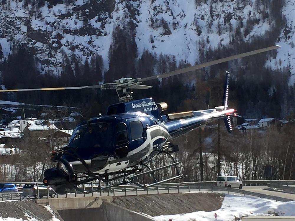 Tournage de film en hélicoptere