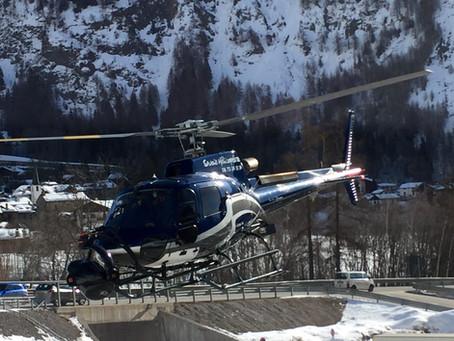 Tournage de film en hélicoptère