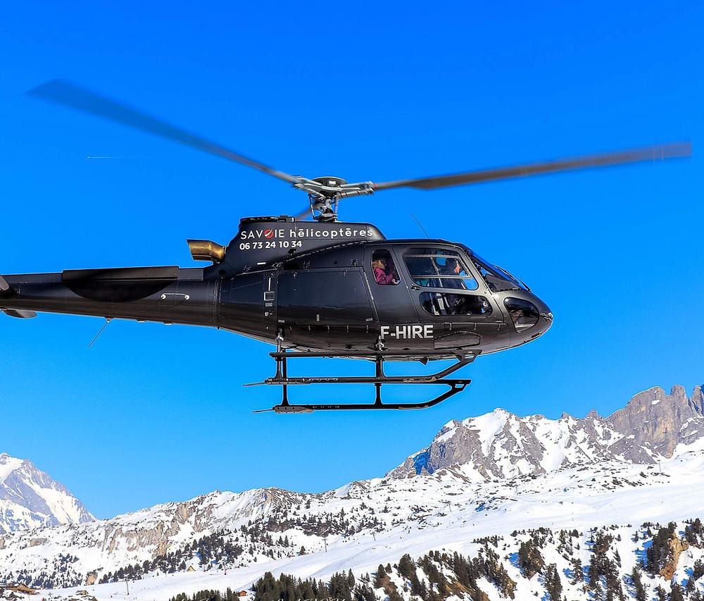 transfert en hélicoptère