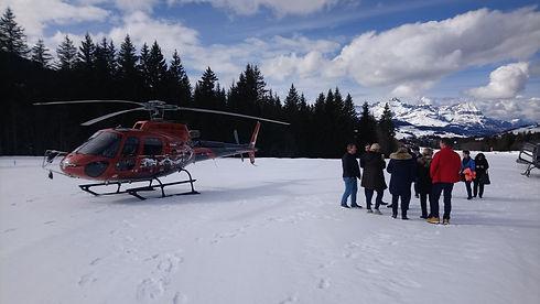 Réserver un hélicoptère pour un événemen