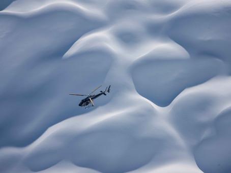 Tournage en hélicoptère pour les Nuits de la Glisse