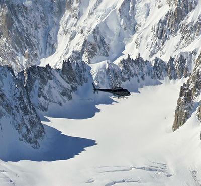 transfert hélicoptère Courchevel