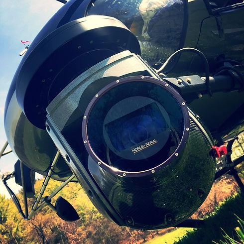 Camera cineflex - prise de vue aérienne
