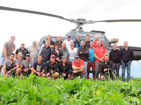 team building en hélicoptère