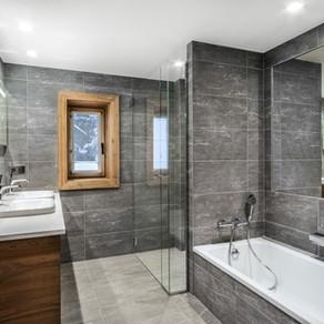 Salle de bain de chalet - nature, douceur et style