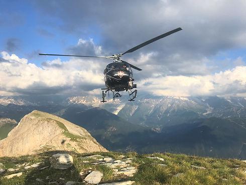 Tournage vidéo avec hélicoptère