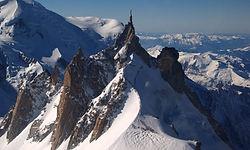 Survol de l'Aiguille du Midi en Hélicopt