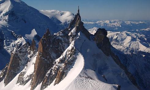 Survol de l'Aiguille du Midi en Hélicoptère
