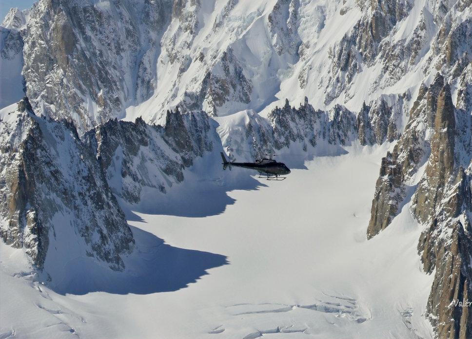 déclenchement d'avalanche aevc hélicoptère
