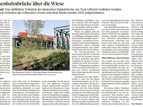 Neue Eisenbahnbrücke: mit dem Hafenbecken 3 könnte Basel Nord damit zum grünen Korridor werden