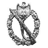 Army Infantry Assault Badge - Silver Awa
