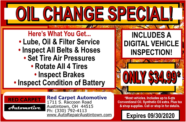red_carpet_oil_change_special_september2