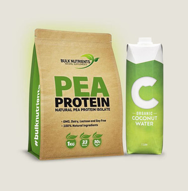 Pea Protein and Coconut Water
