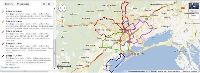 Balades à vélo autour de Montpellier