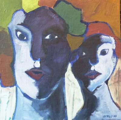 Schwestern 2 | 50x50cm