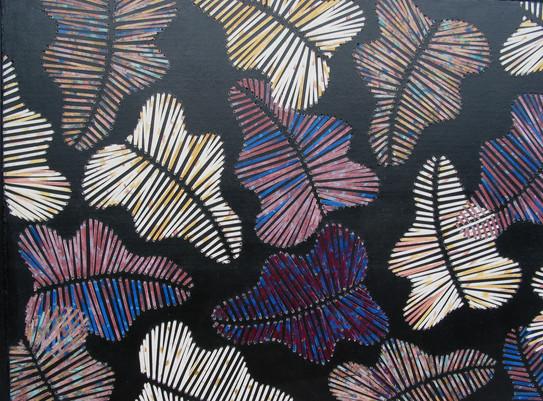 Eichenblätter | 79 x 127cm