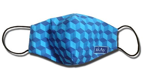 Blue Cubes Facemask