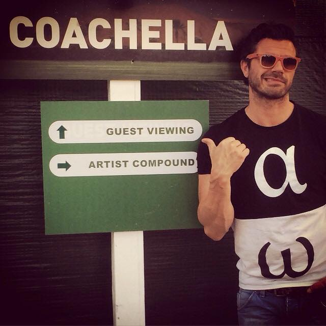At Coachella with Chris