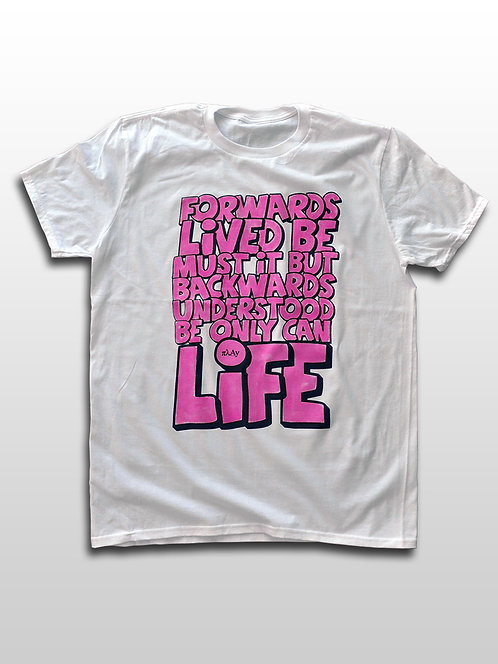The Meaning of Life Pink Graffiti T-shirt