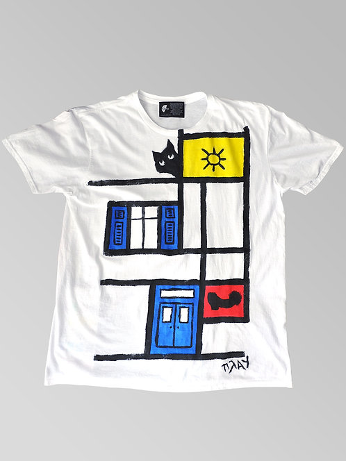 Hand painted Greek Summer Mondrian
