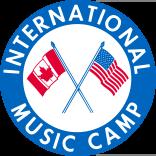 international music camp logo and link