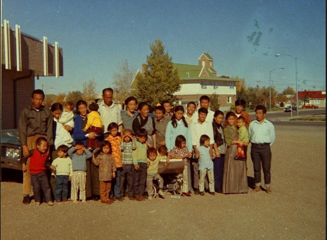 Group that attended school (ESL) in Alberta. (Around October 1971).