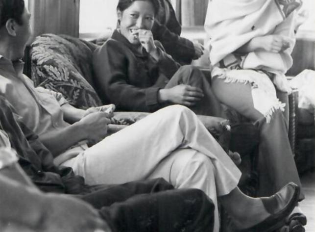 Tibetans in Quebec enjoying afternoon tea.