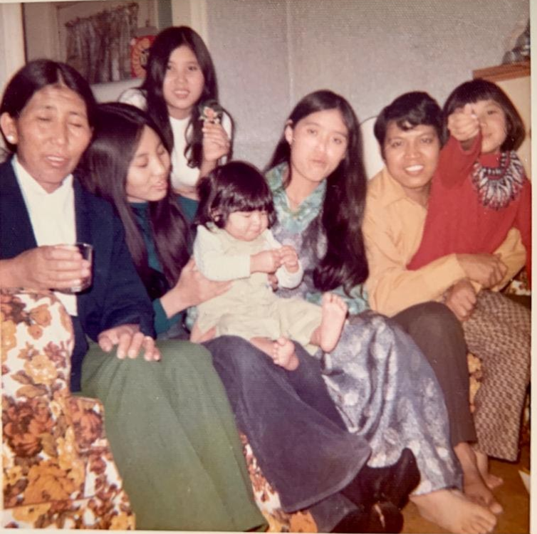 Get together in Alberta home (1971).